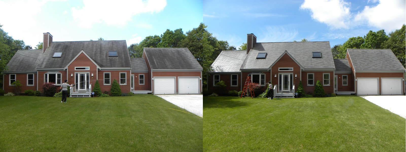 ... Before After Roof Cleaning Cape Cod Ma